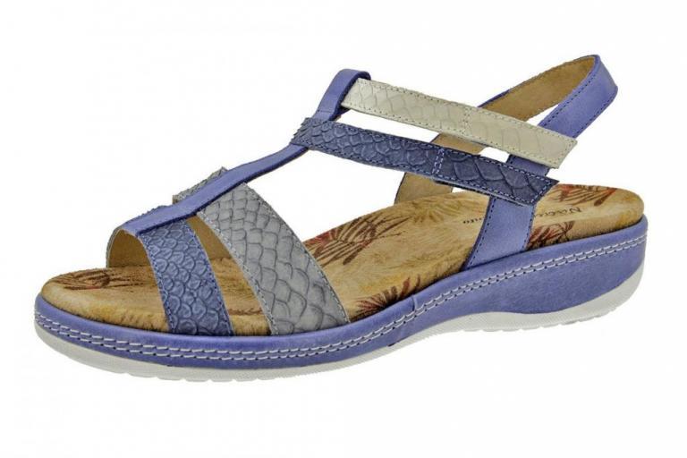 Removable Insole Sandal Snake Blue 6907