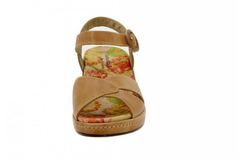 Removable Insole Sandal Leather Tan 6953