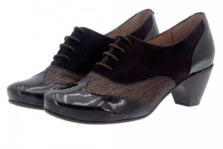 Tie shoe Patent Brown 7401