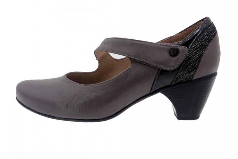 Mary-Jane Leather Grey 7403