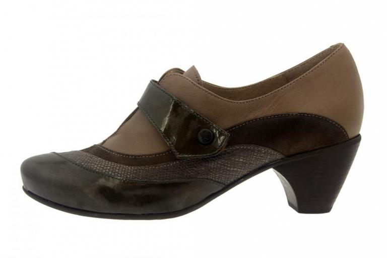 Velcro shoe Patent Taupe 7406