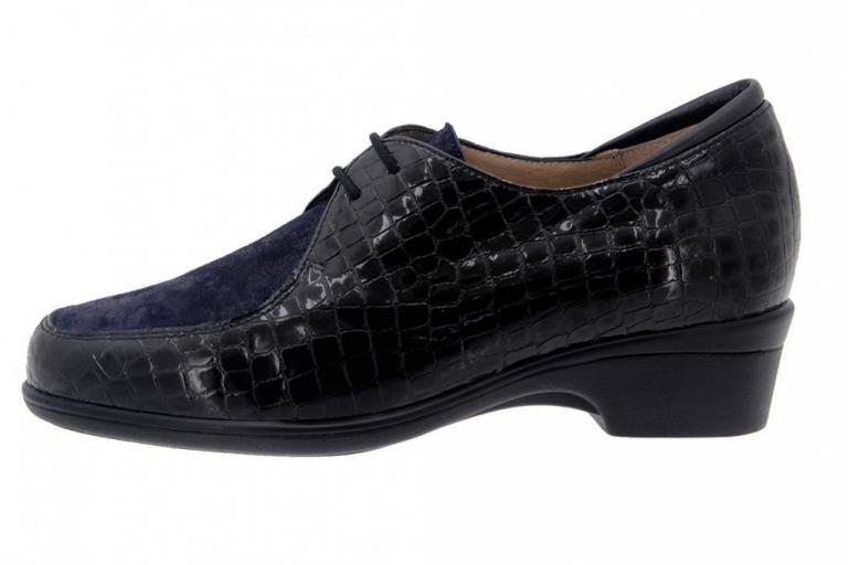 Zapato Cordón Coco Negro 7601
