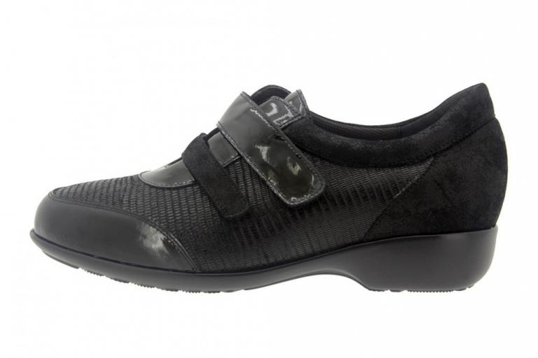 Velcro shoe Patent Black 7676