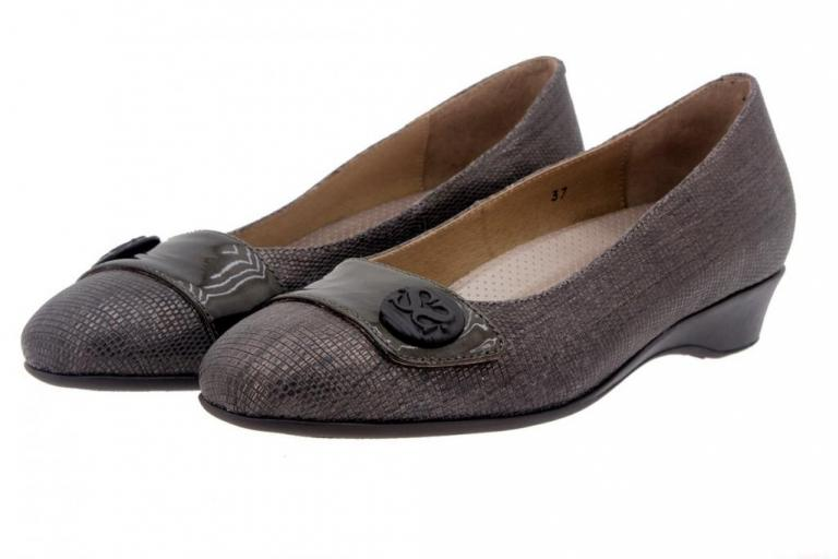 Flat shoe Metal Taupe 7725