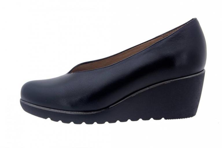 Court shoe Leather Black 7778
