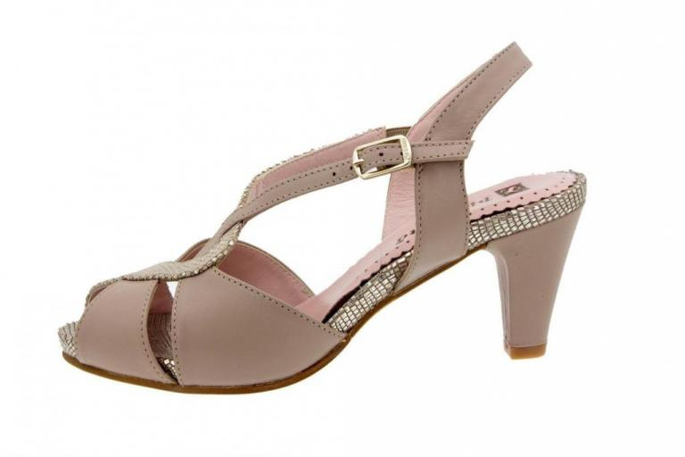 Heel Sandal Leather Sand 8256