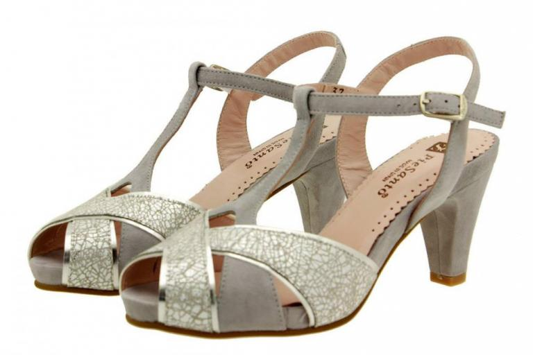 Heel Sandal Metal Grey 8258