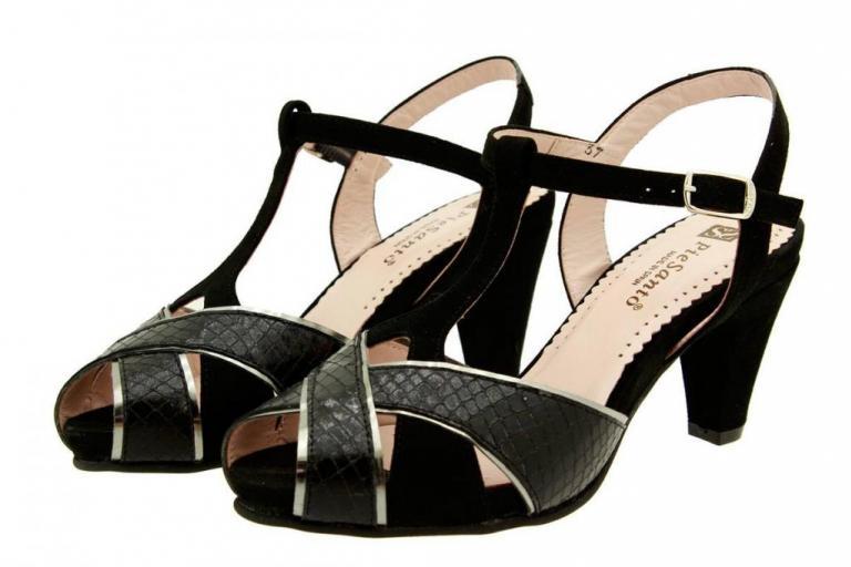 Heel Sandal Snake Black 8258