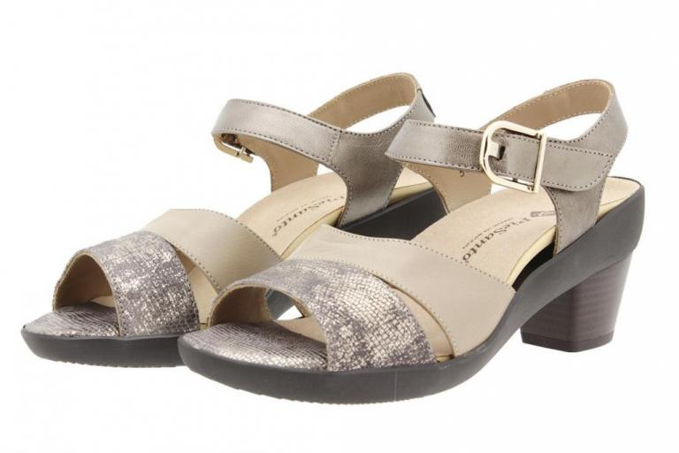Removable Insole Sandal Metal Mink 8440