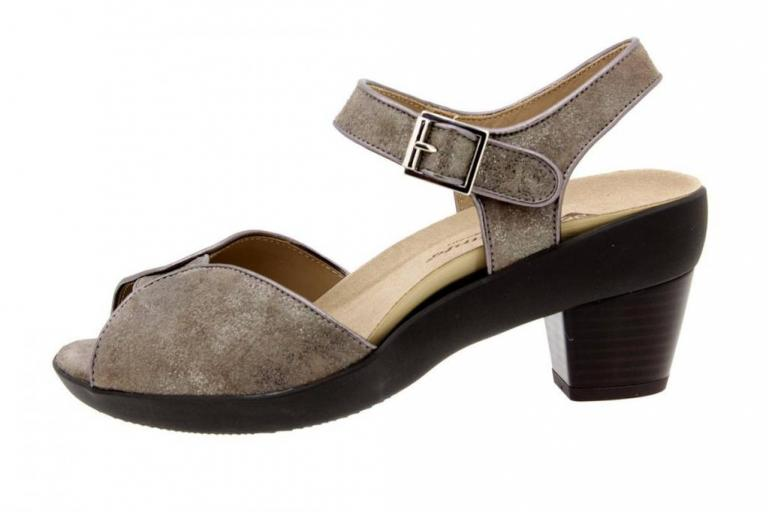 Removable Insole Sandal Metal Suede Mink 8443