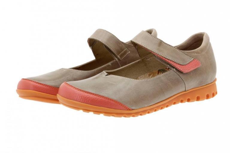 Mary-Jane Leather Orange 8527
