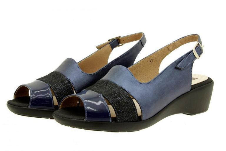 Wegde Sandal Patent Blue 8554