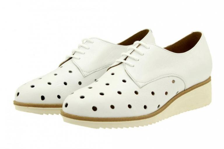 Tie shoe Leather White 8631