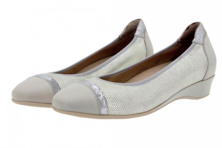 Flat shoe Leather Pearl 8723