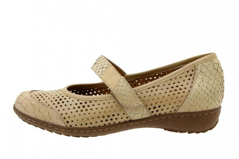 Mary-Jane Snake Beige 8756