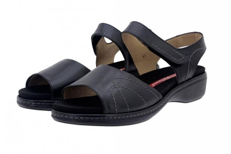 Removable Insole Sandal Leather Black 8801