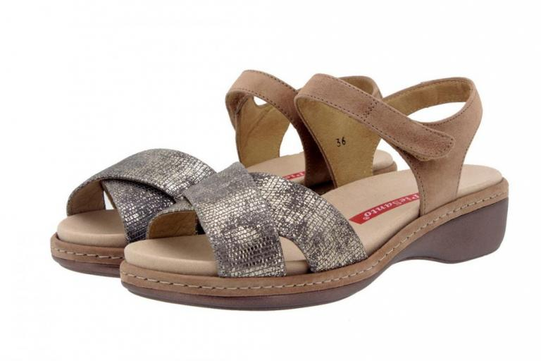 Removable Insole Sandal Metal Mink 8805