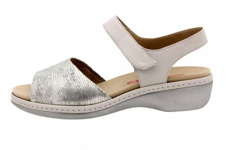 Removable Insole Sandal Metal Grey 8807