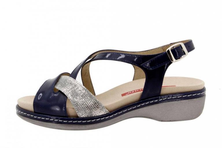 Removable Insole Sandal Patent Blue 8812