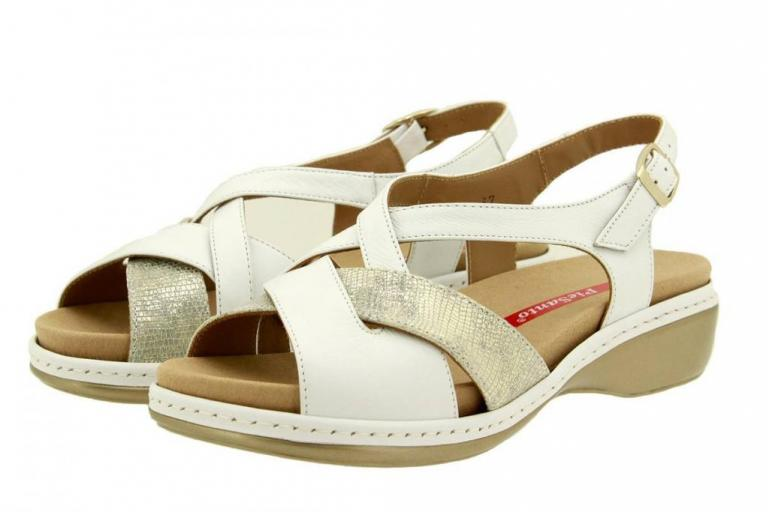 Removable Insole Sandal Leather White 8812