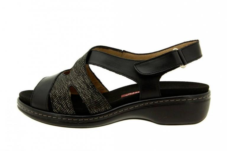 Removable Insole Sandal Leather Black 8813