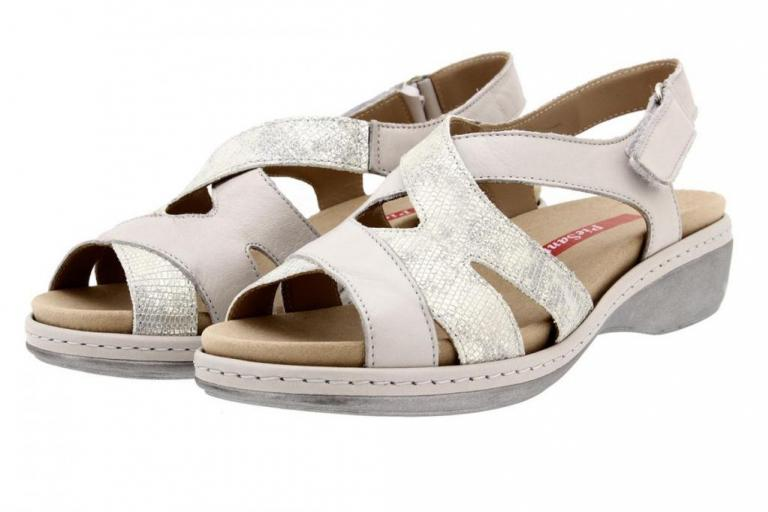 Removable Insole Sandal Leather Pearl 8813