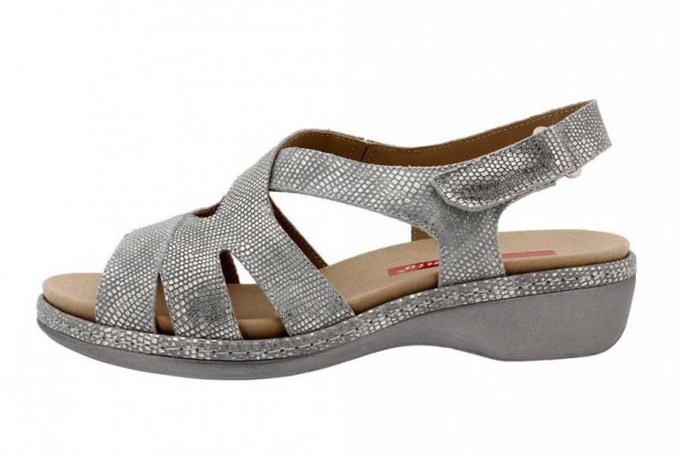 Removable Insole Sandal Metal Grey 8813