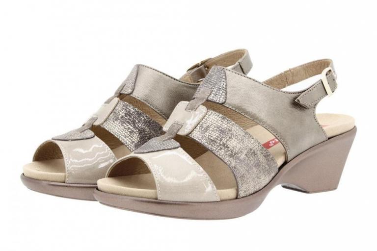 Removable Insole Sandal Patent Mink 8855