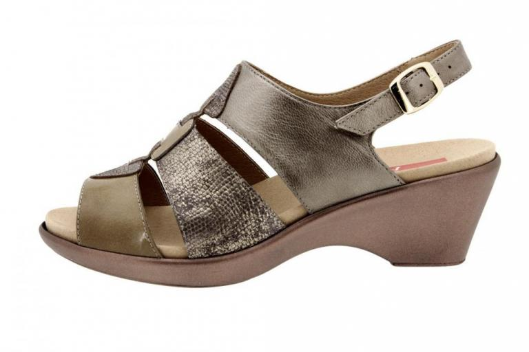 Removable Insole Sandal Patent Taupe 8855
