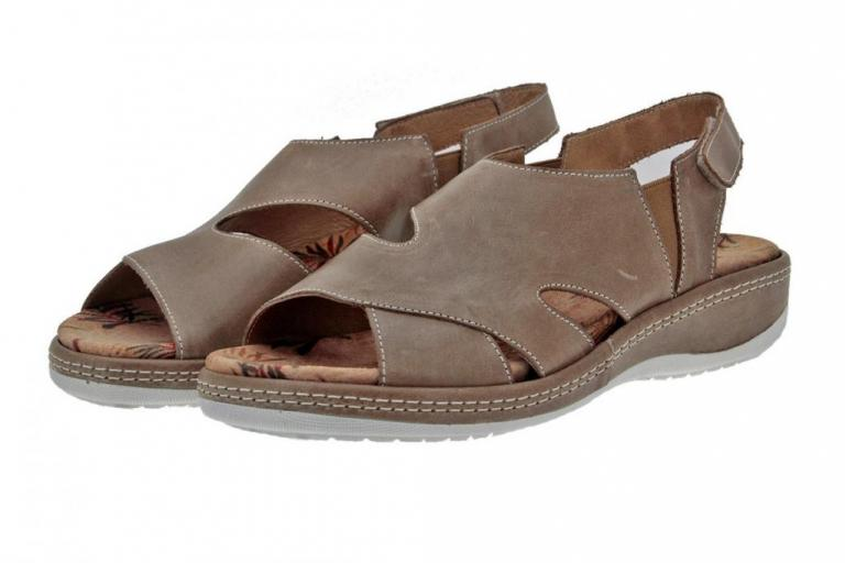 Removable Insole Sandal Leather Mink 8903