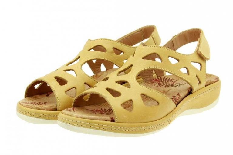 Removable Insole Sandal Leather Straw 8905