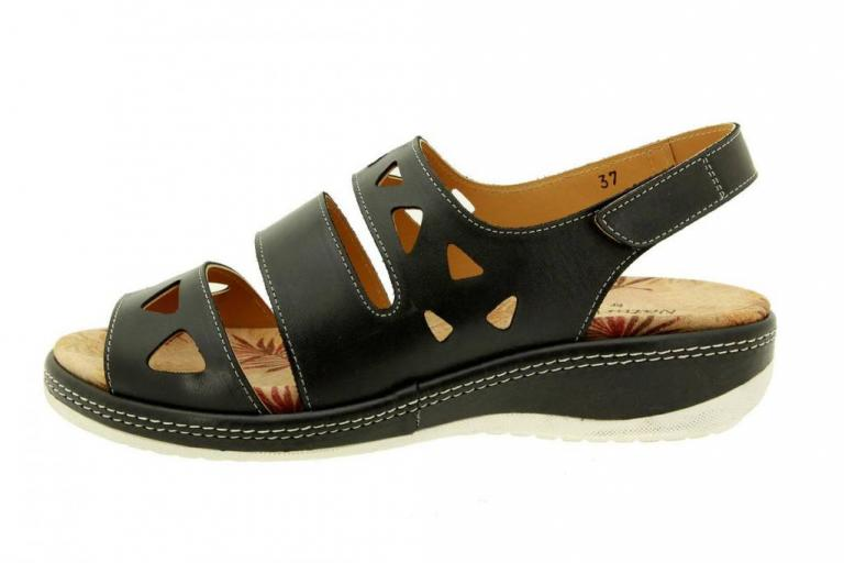 Removable Insole Sandal Leather Black 8907