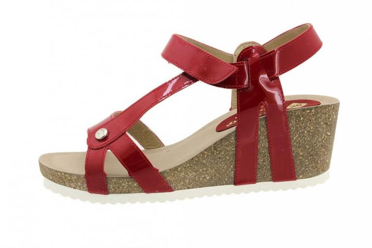 Wegde Sandal Red Patent 8927
