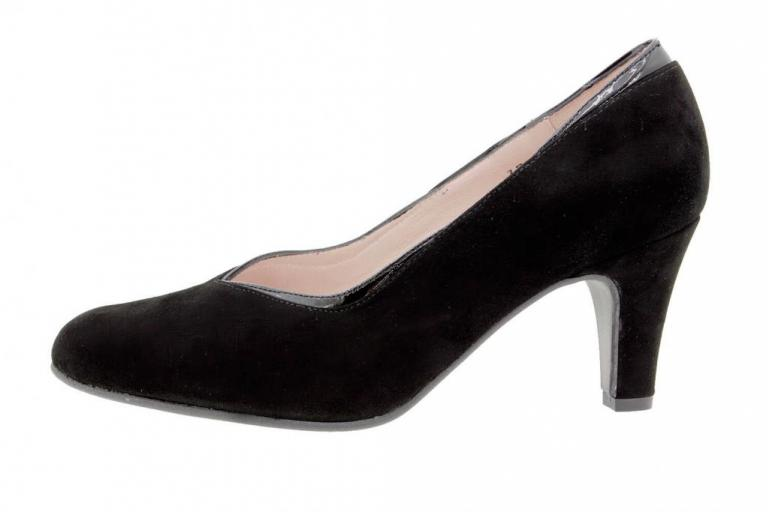Court shoe Suede Black 9206