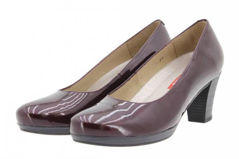 Court shoe Patent Bordeaux 9301