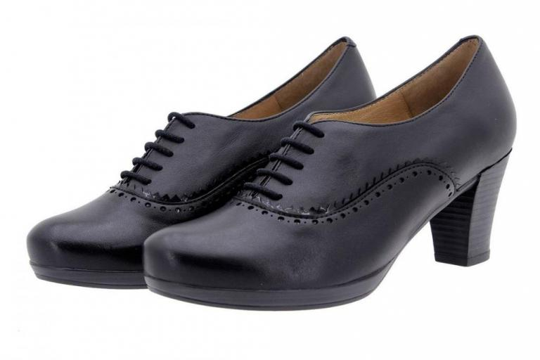 Tie shoe Leather Black 9309