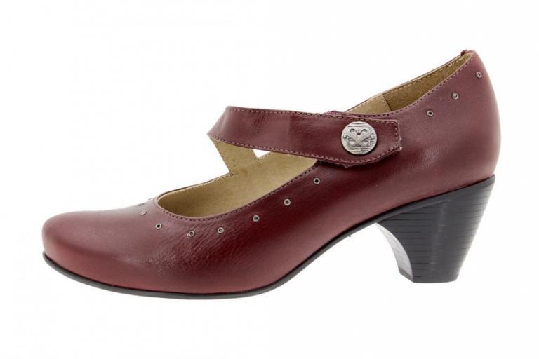 Mary-Jane Leather Bordeaux 9403
