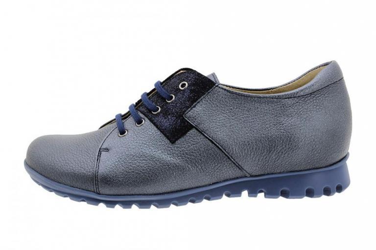 Lace-up Shoe Black Leather