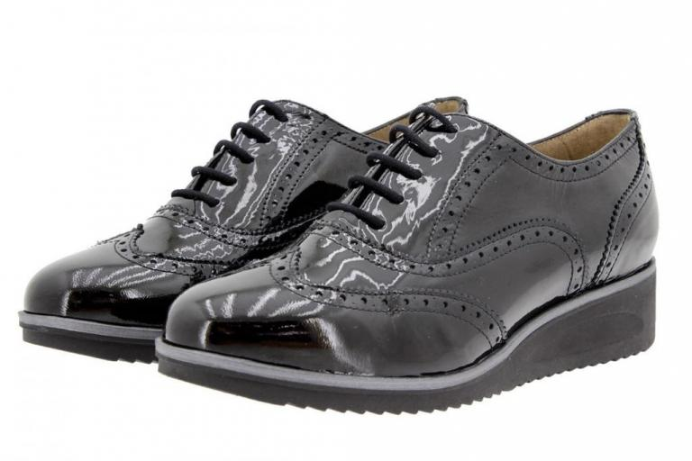 Tie shoe Patent Black 9621