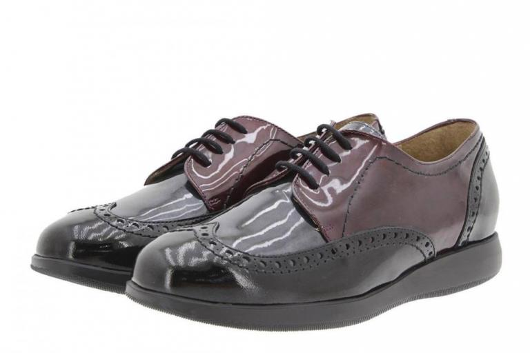 Tie shoe Patent Black-Bordeaux 9630