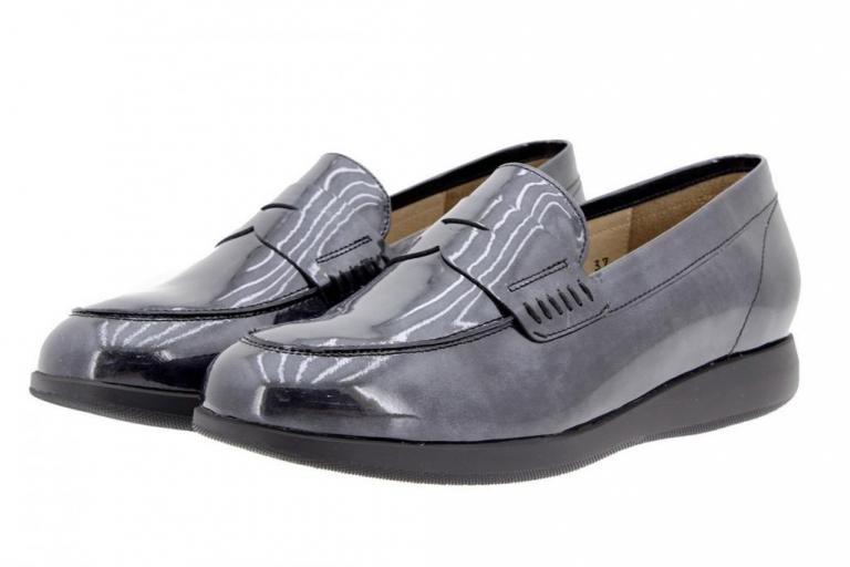 Moccasin Patent Grey 9634