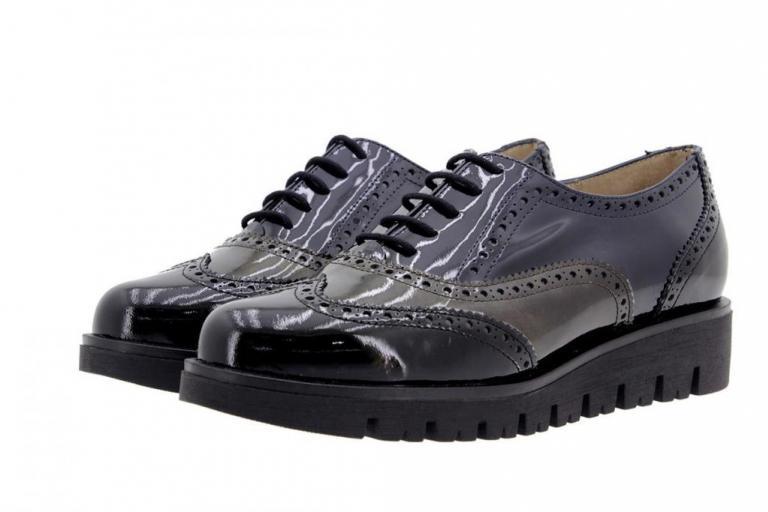 Tie shoe Patent Black 9707