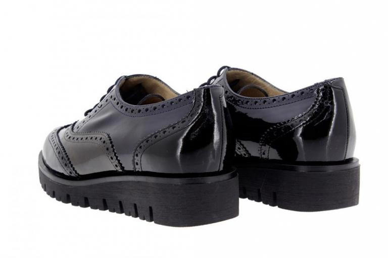 Zapato Cordón Charol Negro 9707