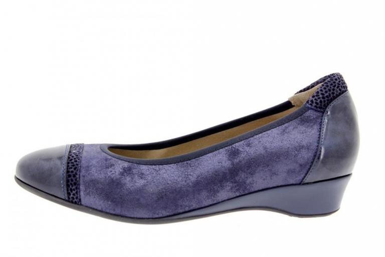 Flat shoe Patent-Leopard Blue 9723