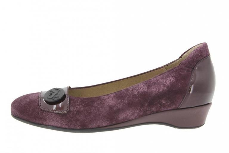 Flat shoe Metal Suede Bordeaux 9725