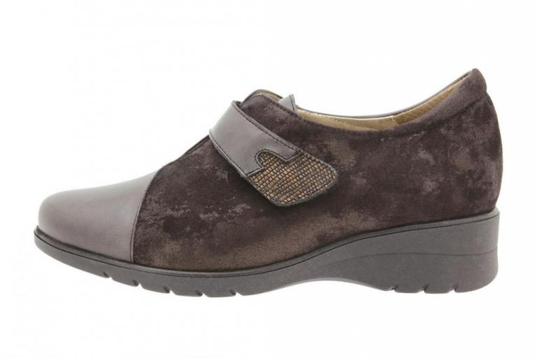 Velcro shoe Leather Brown 9952