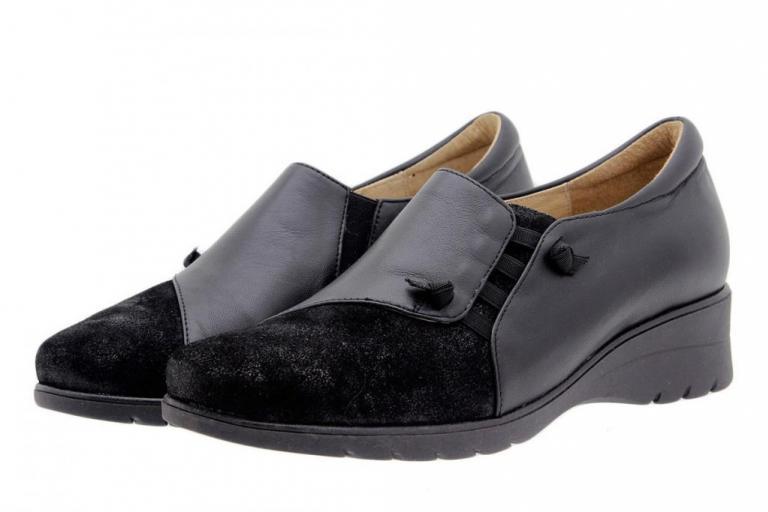Bootee shoe Metal Suede Black 9954