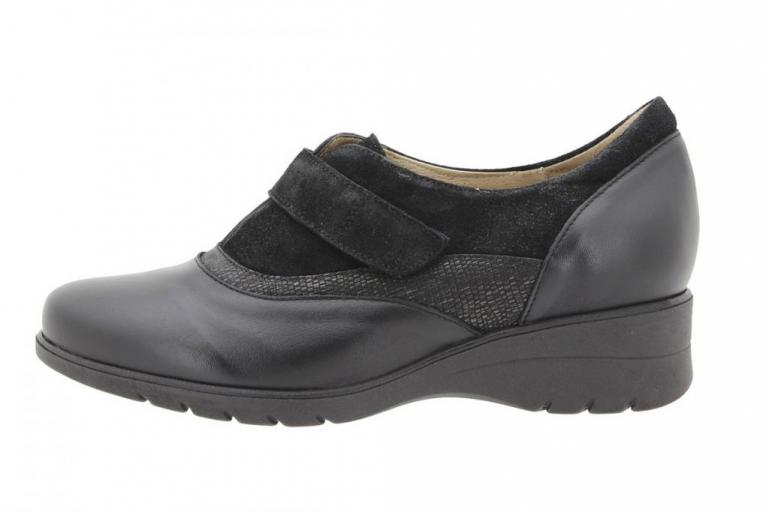 Velcro shoe Leather-Sneake Black 9956