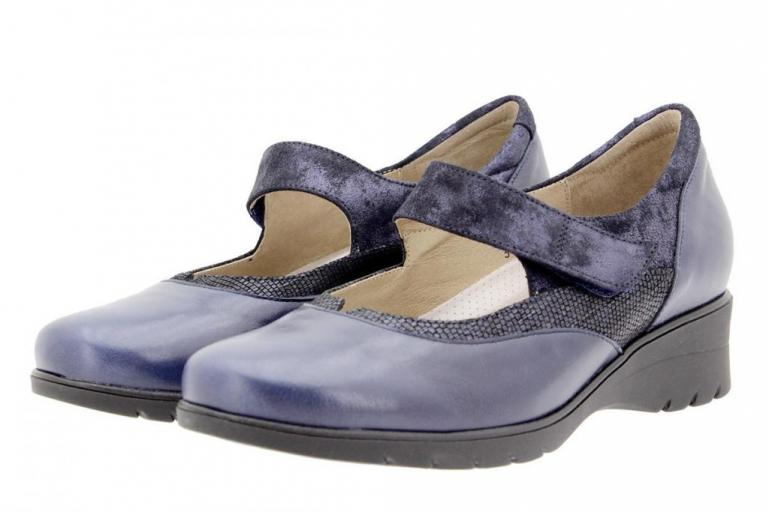 Mary-Jane Leather Blue 9957
