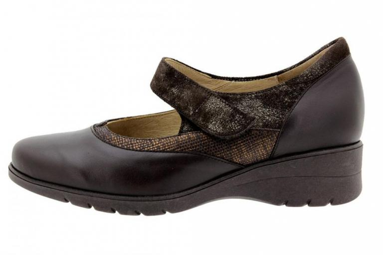 Mary-Jane Leather Brown 9957